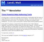 电子邮件模板 - 电子杂志
